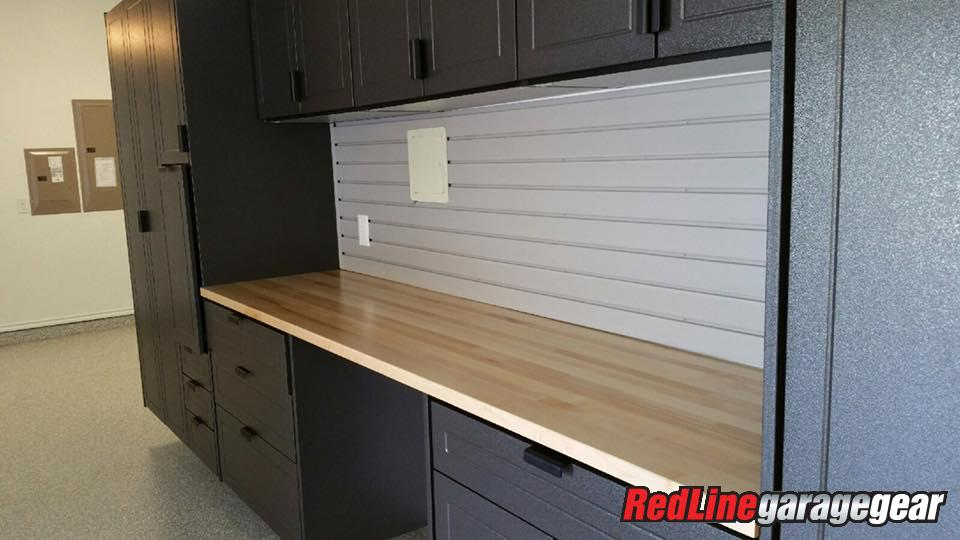 garage workbench with storage