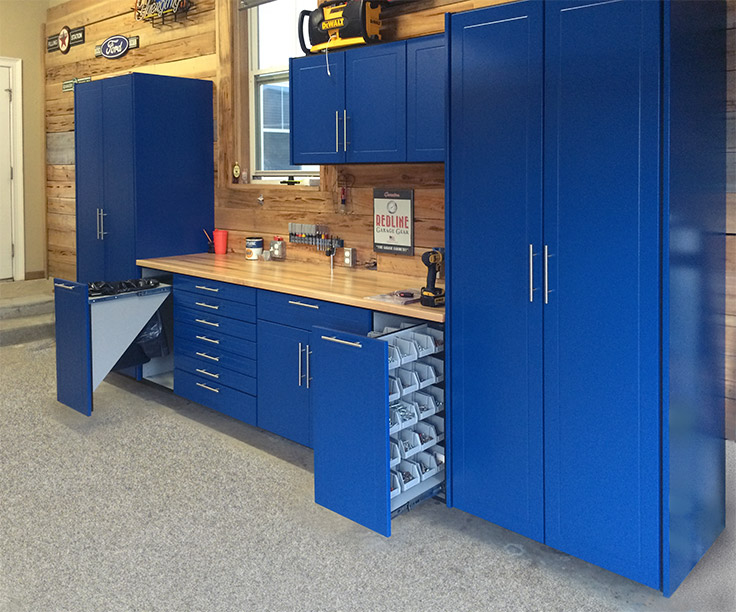 Most Extensive Line Of Garage Cabinets Redline Garagegear